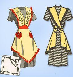 1940s Vintage Anne Adams Sewing Pattern 4768 Misses WWII Apron