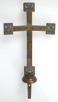 Cross Date: 12th century Culture: Mosan Medium: Copper Dimensions: Overall: 11 1/4 x 6 x 1 3/4 in. (28.5 x 15.2 x 4.5 cm)