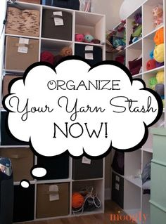 There are probably as many ways to organize yarn as there yarn users! Here are a few ideas that might inspire your own organizational endeavors.