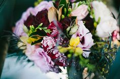 beautiful purple ish bouquet for elegant country wedding