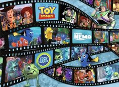 Pixar: Filmstrip Friends - 60pc Floor Puzzle By Ravensburger | SeriousPuzzles.com Disney Puzzles, Puzzles For Kids, Disney Pixar Movies, Disney Toys, Disney Characters, Empire Earth, Earth 3, Movie Reels, Floor Puzzle