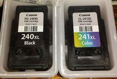 Empty Canon Ink Cartridges color CL 241XL & black PG 240XL Never refilled virgin
