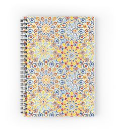 """Flower mandala pattern"" Spiral Notebooks by evgenial | Redbubble"