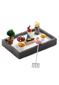 Quirky Home Decor - The More You Gnome Zen Garden