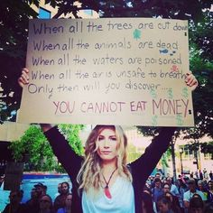 You cannot eat money!