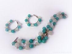 Amazonite jewelry  Amazonite bracelet  Turquoise by RinasJewels