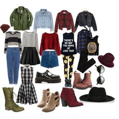 """""""Punk/ Grunge Fall indie outfits"""" by thelovelymonalisa on Polyvore grunge wardrobe staples"""