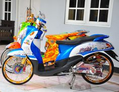 Modifikasi Yamaha Fino Bluecore Thailook