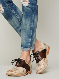 saturday all day ~~Free People Hathaway Saddle Shoe