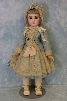 """24"""" 1885 Antique C/M French Bisque Size 11 Tete Jumeau Doll correct from turnofthecenturyantiques on Ruby Lane"""