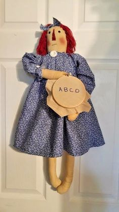PRIMITIVE ~~~ANNIE DOLL WITH HOOP