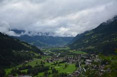 A view to a valley from an apartment in Bad Gastein to Alps. Author-Tereza Večerková