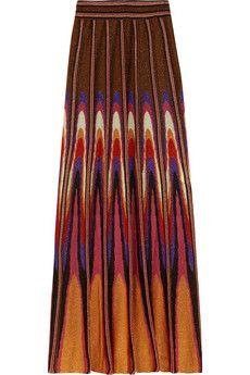 M Missoni Metallic crochet-knit maxi skirt   THE OUTNET