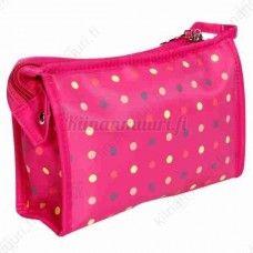 Wuhua pilkullinen meikkilaukku, pinkki