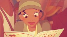This is me when I get my new cook magazine. I turn into Tiana