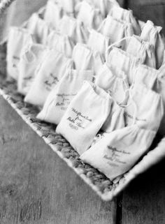 Wildflower Seeds in Cloth Bags Wedding Favors |  event design by http://planashindig.com/ | photography by http://katiestoops.com/