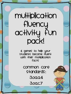 Multiplication Fluency Fun Pack!