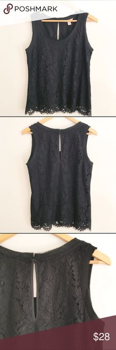 Banana Republic Black Lace Dressy Top Size Small Sweet & sexy black lace top by Banana Republic. Size small. Gently pre-owned, no flaws. Banana Republic Tops Blouses