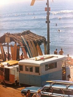 classic beach in the good old days of the early 60's