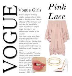 """""""Pink Lace"""" by mochivrs on Polyvore featuring Christian Louboutin, Trina Turk, Muche Et Muchette, contest, Group, pinklace, angels and angelsindisguise"""