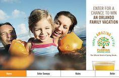Win an Orlando Family Vacation Florida Orange Juice