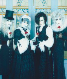 """Malice Mizer....visual kei band from Japan....coincidentally they are all guys; at least genetically""-Violet Shade"