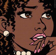 Black Cartoon Characters, Black Girl Cartoon, Dope Cartoon Art, Cartoon Art Styles, Black Love Art, Black Girl Art, Black Girls, Black Art Painting, Black Artwork