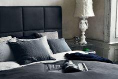 Swiss Sense slaapkamer inspiratie #beige, #grijs, #zwart. Kijk voor meer boxspring stijlen op SwissSense.nl