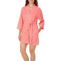 Coral Bay offers relaxed, comfortable style to any wardrobe. This bathrobe is made from ultra-soft polyester blend and features houndstooth texture with...