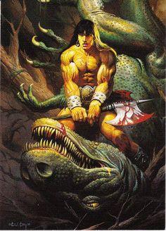 Vintage Ken Kelly Collection #2 Trading Card 1994, Fantasy Art, Sword And Sorcery, Heroic Fantasy, Conan the Barbarian, Tarzan, KISS by winterparkcollect on Etsy