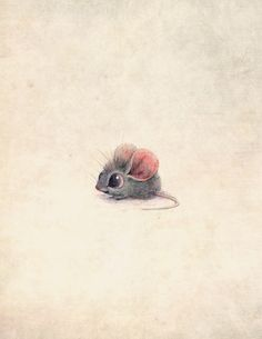 Oh my goodness! Can a mouse be drawn more adorable than this!?!?