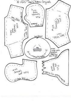 Patti's Ratties que posuo - Danielle Almeida - Álbuns da web do Picasa Dyi Crafts, Felt Crafts, Sewing Crafts, Sewing Projects, Fabric Doll Pattern, Fabric Dolls, Fabric Patterns, Rag Dolls, Moldes Halloween