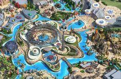 Dream City Zone at designed Chuzhou Theme Park, China You are in the right place about Waterpark landscape Here we offer you the most beautiful pictures about the Waterpark fandom you are l Zoo Architecture, Landscape Architecture Design, Landscape Plans, Planet Coaster, Unusual Buildings, Park Resorts, Parking Design, Dream City, Conceptual Design