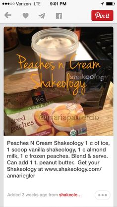 21 day fix Shakeology recipe #shakeology #21dayfix