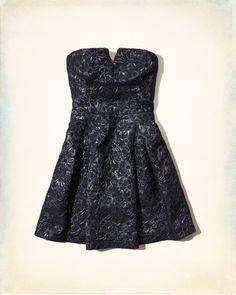 Shine Jacquard Skater Dress