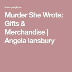 Murder She Wrote: Gifts & Merchandise | Angela lansbury
