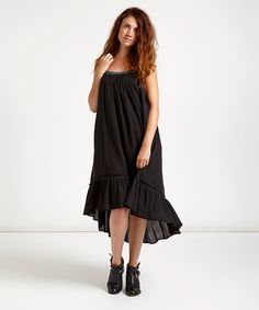 Another great find on #zulily! Black Gauze Racerback Dress by Free People #zulilyfinds