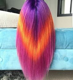 Just amazing hair color by @thehairstylish ❤