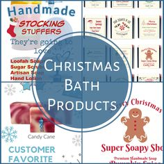 The Soap Guy offers fun Christmas Bath Products including some stocking stuffers your family and friends will love! Click through to see the selection!