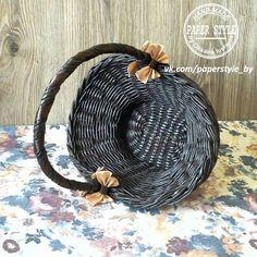 КОРЗИНКА #paperstyle #handmade #ручнаяработа #плетениеизгазет #плетение #корзинка #интерьер #длядома