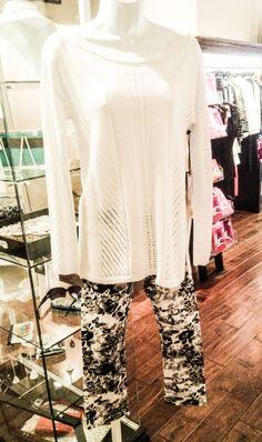 525 Sweater paired with Hue Leggings  @525america  PILEGGI BOUTIQUE