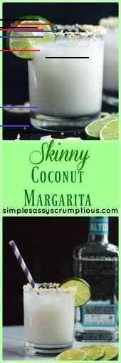 Dünne Kokosnuss Margarita - Einfach, frech und lecker - #dunne #einfach #frech #kokosnuss #lecker #margarita - #Jadyn'sAlkoholischeGetränke Coconut Margarita, Glass Of Milk, Hairstyle, Drinks, Food, Coconut, Simple, Hair Job, Drinking