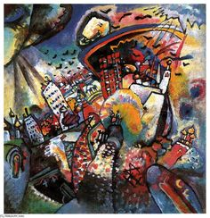 Moscou, j ai, huile sur toile de Wassily Kandinsky (1866-1944, Russia)