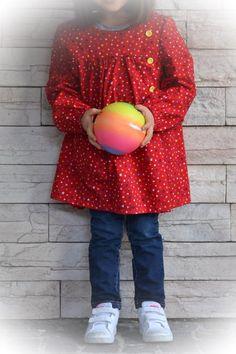 Grembiulino Scuola dell'Infanzia  - Mod. Martina rosso - tg. 4 anni