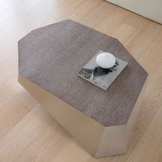 Contemporary wooden coffee table Diamante by Antonello, is a compact solution with a wooden top and satined or lacquered aluminium frame Contemporary Coffee Table, Modern Coffee Tables, Contemporary Furniture, Wooden Tops, Coffee Table Design, Small Tables, Cocktail Tables, House Design, Nice Things