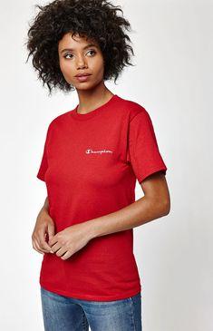 Champion x PacSun Short Sleeve Script T-Shirt at PacSun.com
