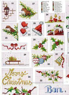 #Free #Christmas #Motifs || 15 graficos navideños en punto de cruz gratis10