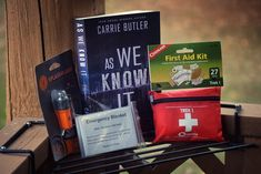 Enter to win a paperback of AS WE KNOW IT, 5 Mylar blankets, a survival flashlight, & a first aid kit! First Aid Kit, Survival Prepping, Flashlight, Blankets, This Is Us, Author, News, How To Make, Inspiration