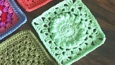 Crochet Plain Granny Square, One Color or Multi-Color - cypress|textiles Granny Square Crochet Pattern, Afghan Crochet Patterns, Crochet Motif, Crochet Stitches, Easy Sewing Projects, Crochet Projects, Crochet Table Runner Pattern, Free Baby Blanket Patterns, Yarn Colors