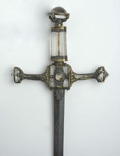 Henry VIII's Sword of State  Dated: English School, (16th century) Culture: English Medium: Steel, silver, gold & crystal Location: Ashmolean Museum, University of Oxford, UK The sword was said to have been given to Henry VIII by the Pope.